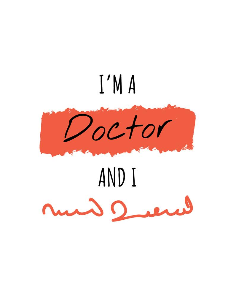 Template di design Funny Phrase about Doctors handwriting T-Shirt