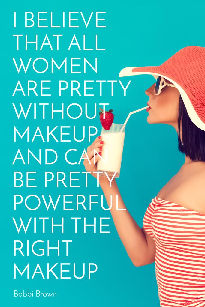 Citation about women without makeup — Crea un design