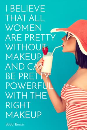 Ontwerpsjabloon van Pinterest van Citation about women without makeup