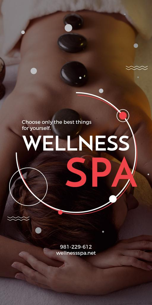 Wellness spa website poster — ein Design erstellen