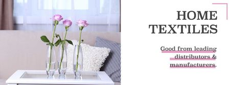 Modèle de visuel Home textiles global tradeshow - Facebook cover