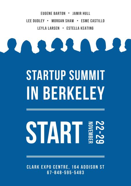 Startup summit Annoucement Posterデザインテンプレート