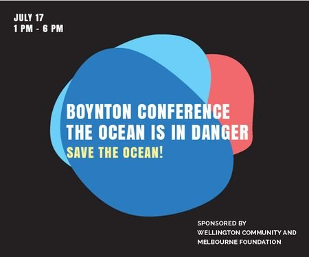 Plantilla de diseño de Boynton conference the ocean is in danger Medium Rectangle