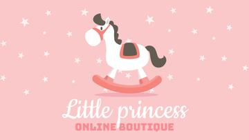 Kids Goods Store Offer Rocking Horse Toy | Full Hd Video Template