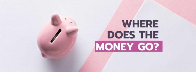 Plantilla de diseño de Budgeting concept with Piggy Bank Facebook cover