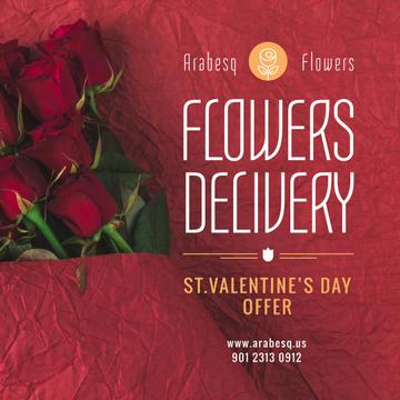 Valentine's Day Flowers Delivery Offer Red Roses