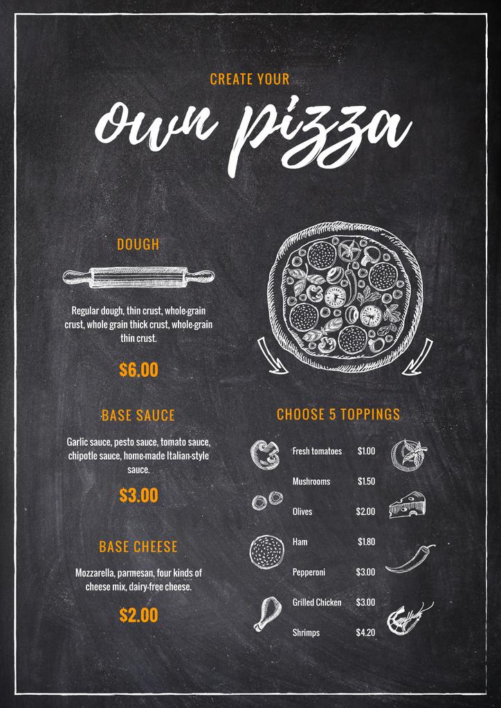 Italian Pizza on chalkboard — ein Design erstellen