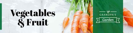Template di design Grocery store with Ripe Carrots Twitter