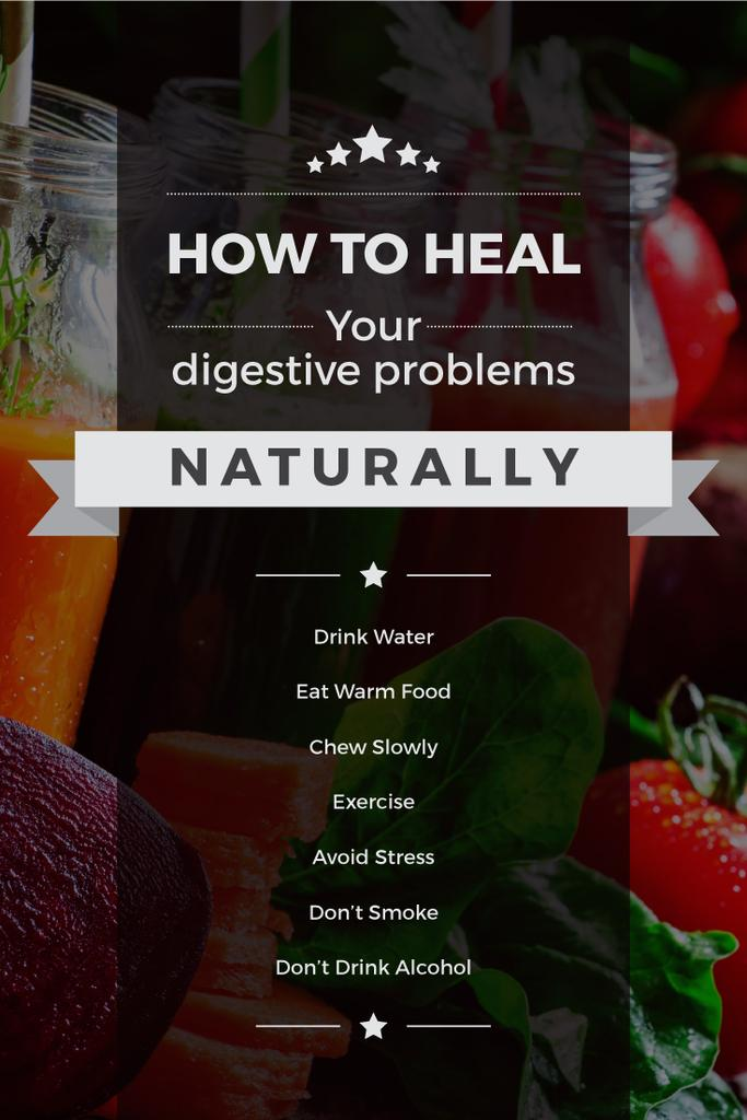 how to heal digestive problems naturally poster — Create a Design