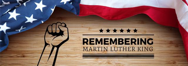 Martin Luther King Day Greeting with Flag Tumblr – шаблон для дизайна