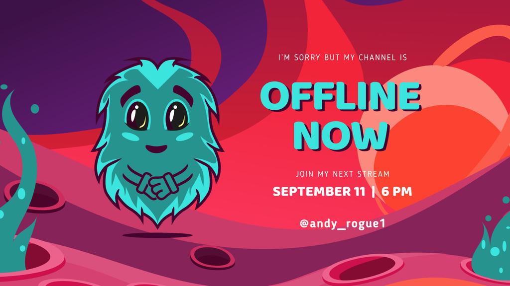 Game Stream Ad with Cute little Monster — Crea un design