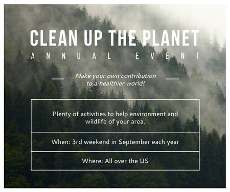 Template di design Clean up the Planet Annual event Large Rectangle
