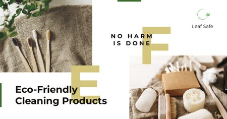 Eco-friendly cleaning products Facebook AD – шаблон для дизайну