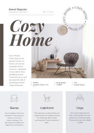 Modèle de visuel Weekly Digest of Cozy Home - Newsletter