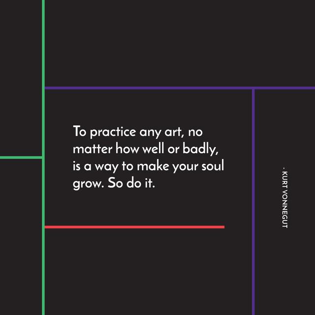 Art Quote in Linear Geometric Frame Instagram AD Tasarım Şablonu