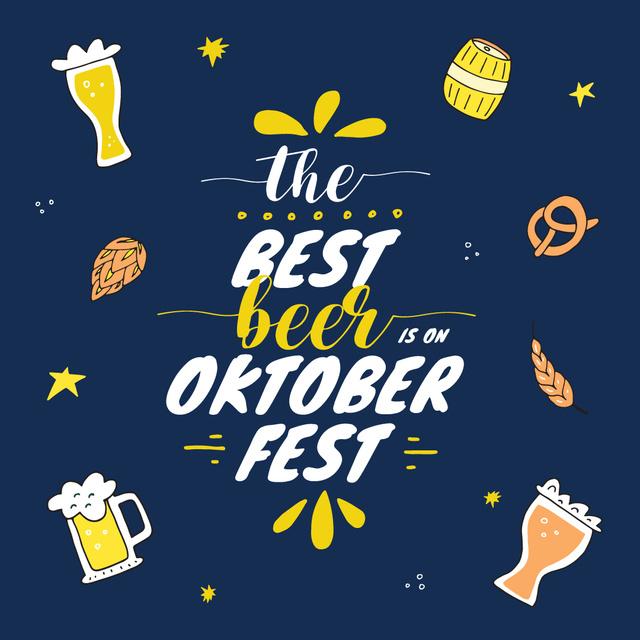 Traditional Oktoberfest card Instagram – шаблон для дизайну