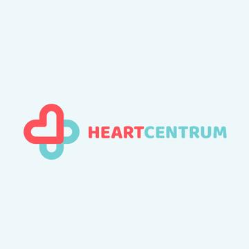 Charity Medical Center Hearts in Cross | Logo Template