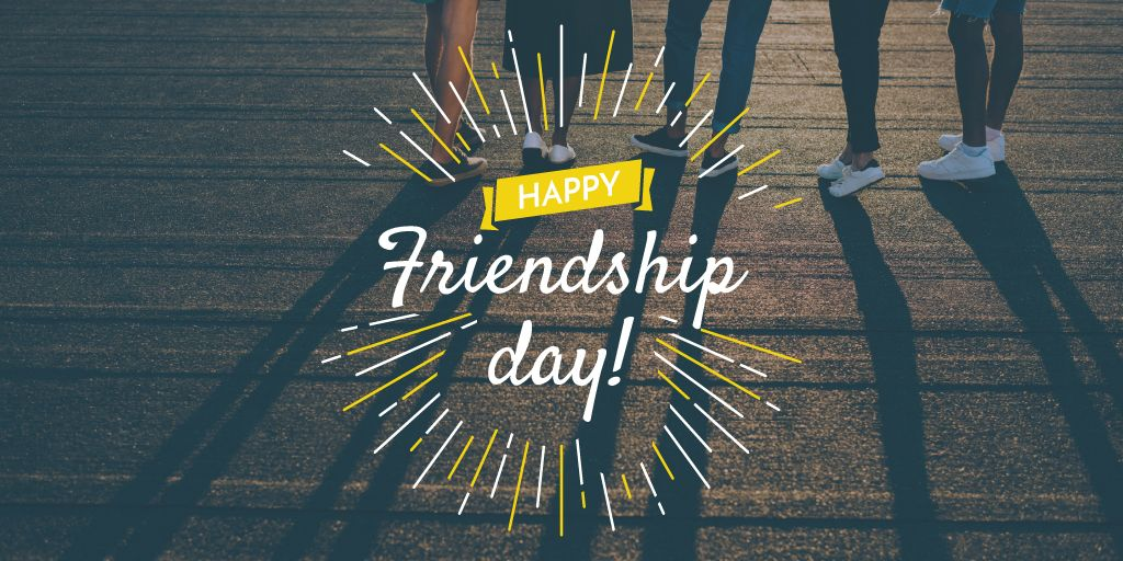 Friendship Day Greeting Young People Together — Maak een ontwerp