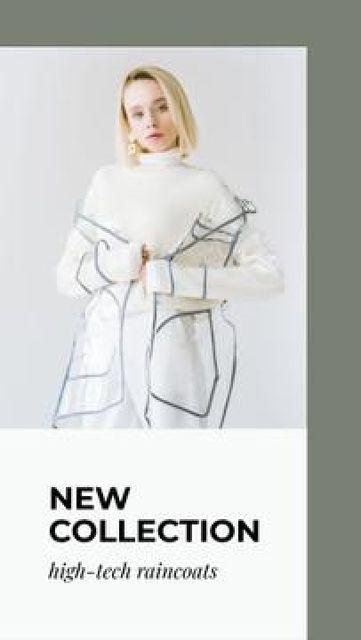 Fashionable Raincoats store ad Mobile Presentation Tasarım Şablonu