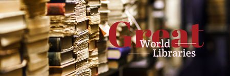 Great world libraries Ad Email header Modelo de Design