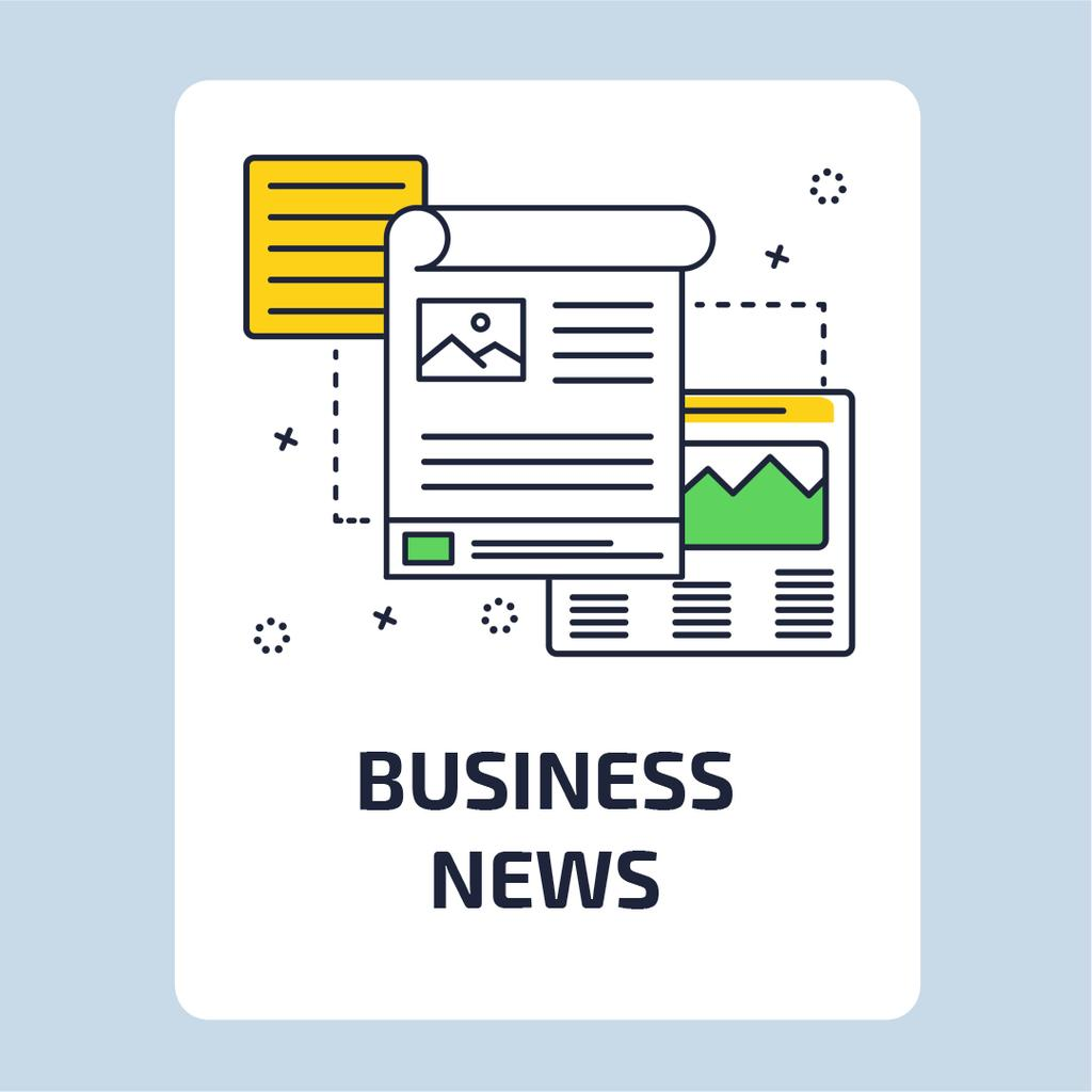 Business News with file icon — Maak een ontwerp