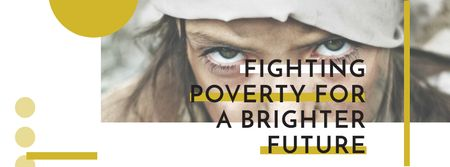 Ontwerpsjabloon van Facebook cover van Citation about Fighting poverty for a brighter future