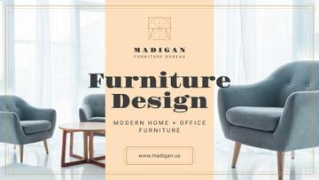 Furniture Design Studio Ad with Armchairs in Grey