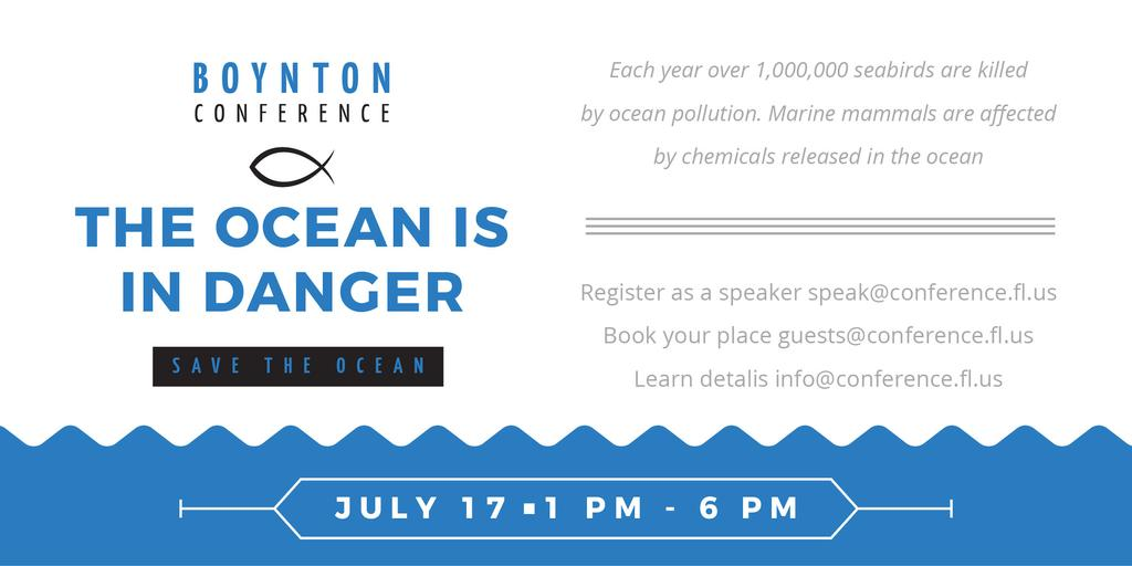 Boynton conference the ocean is in danger — Crear un diseño