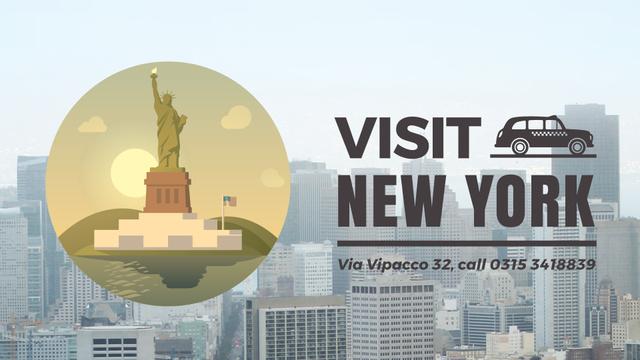 Plantilla de diseño de Tour Invitation with New York City Full HD video