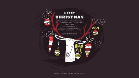 Plantilla de diseño de Christmas deer with baubles Full HD video