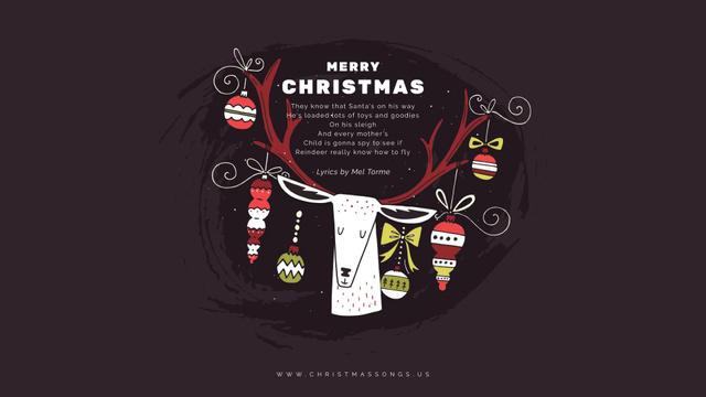 Modèle de visuel Christmas deer with baubles - Full HD video