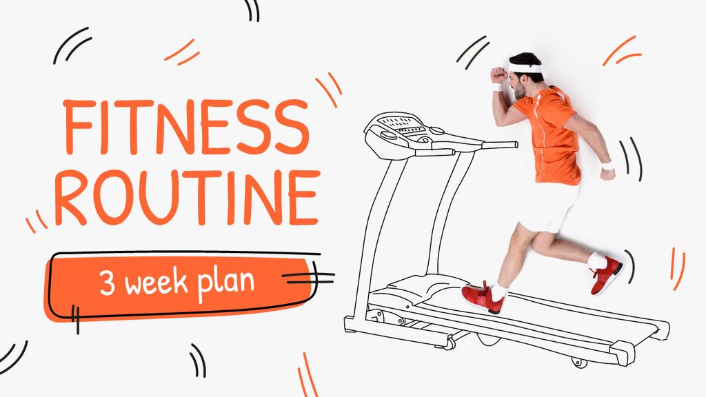 Training Plan Man on Treadmill Drawing — Створити дизайн