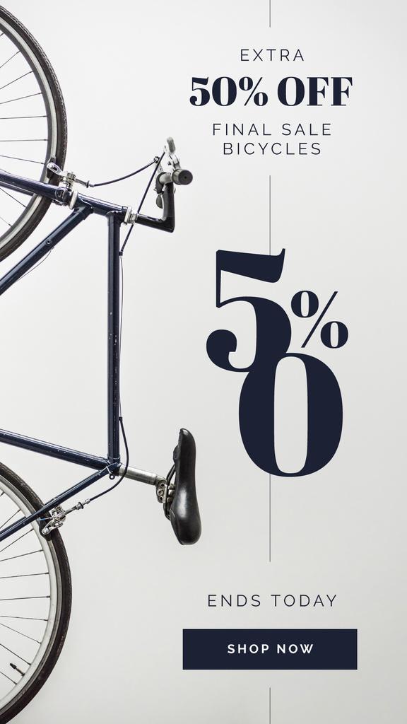 Bicycle by grey wall — Créer un visuel