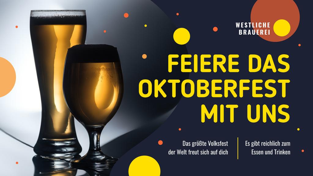 Template di design Oktoberfest Offer Beer in Glasses FB event cover