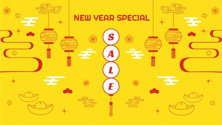 New Year Sale Chinese Style Attributes Title Modelo de Design
