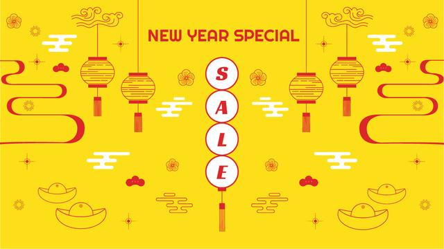 Ontwerpsjabloon van Title van New Year Sale Chinese Style Attributes