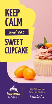 Confectionery Promotion Sweet Cupcake with Kumquat | Blog Graphic Template