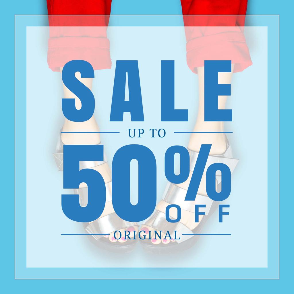 Female Shoes Sale in blue — ein Design erstellen