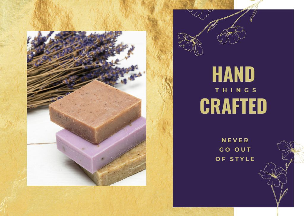 Handmade soap bars — Create a Design