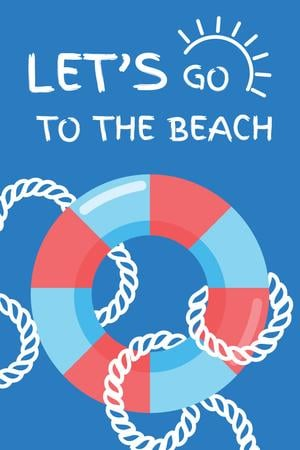 Summer Trip Offer with Floating Ring in Blue Pinterest Modelo de Design
