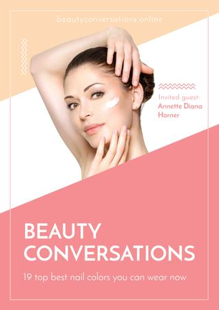 Beauty conversations with Attractive Woman Poster Tasarım Şablonu