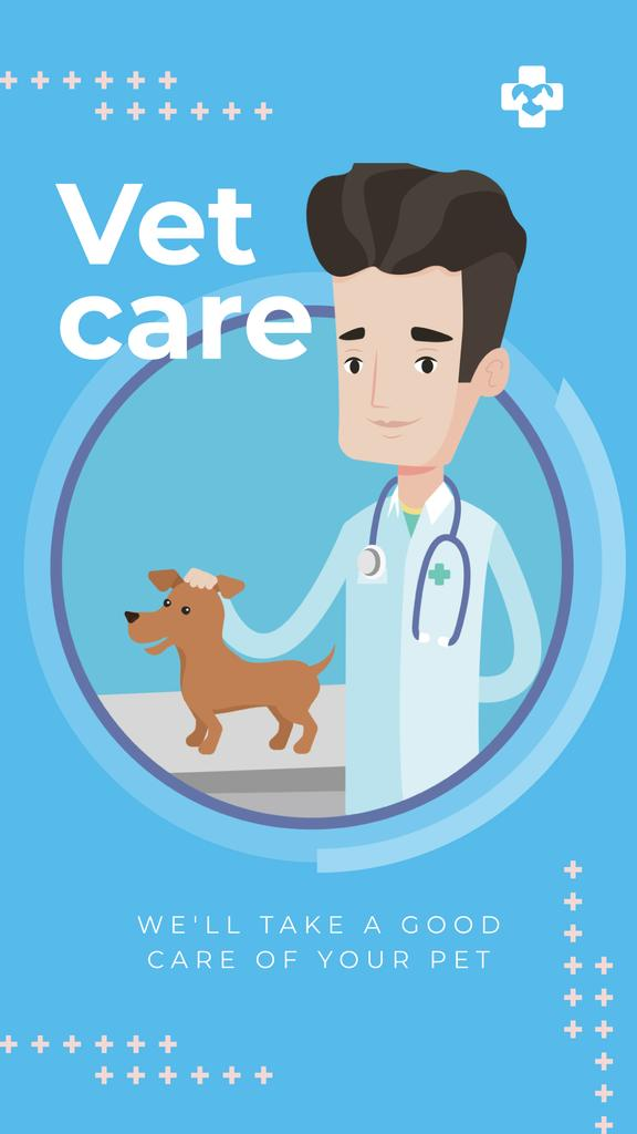 Vet taking care of dog — Crea un design