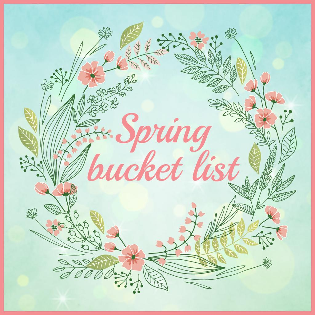 Spring bucket list card — Create a Design