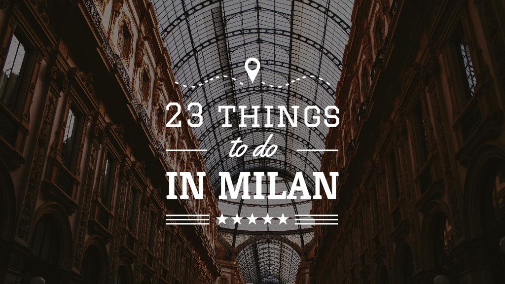 Milan Trip Inspiration Shopping Mall Gallery — Створити дизайн