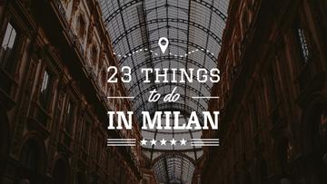 Milan Trip Inspiration Shopping Mall Gallery | Youtube Thumbnail Template