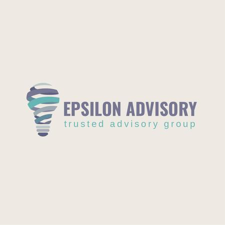Advisory Company with Lamp Icon Logo – шаблон для дизайну