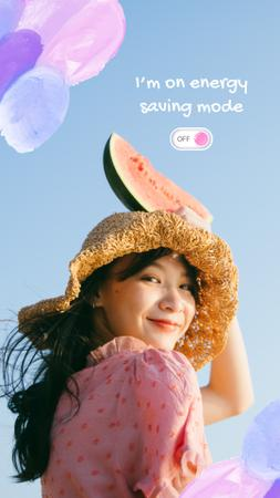 Mental Health Inspiration with Cute Girl Instagram Storyデザインテンプレート