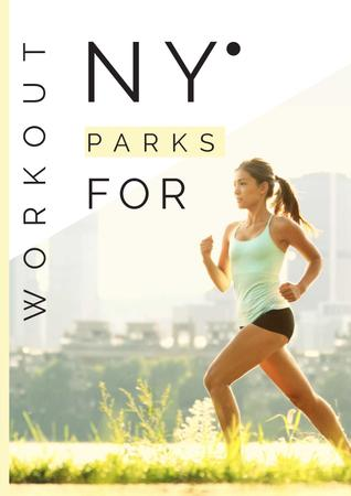 Workout in New York parks Poster Modelo de Design