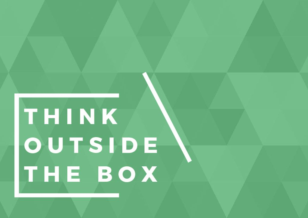 Think outside the box citation — Crea un design