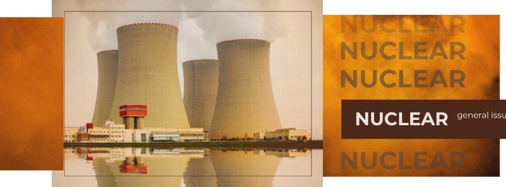 Modèle de visuel Industrial plant with chimneys - Facebook cover